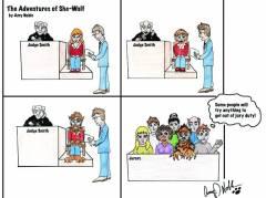 She-Wolf Jury Duty